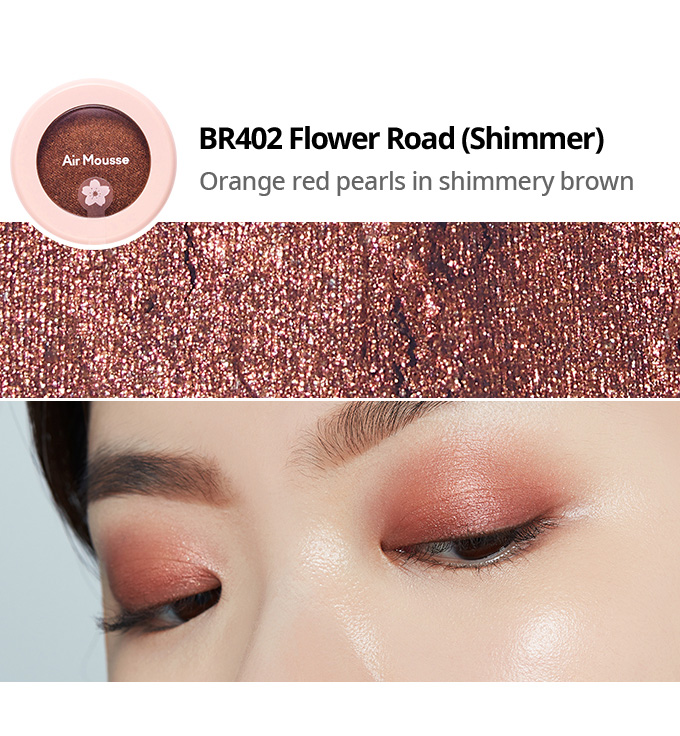 Etude House 2019 Cherry Blossom Blossom Picnic collection air mousse eyes eyeshadow BR402