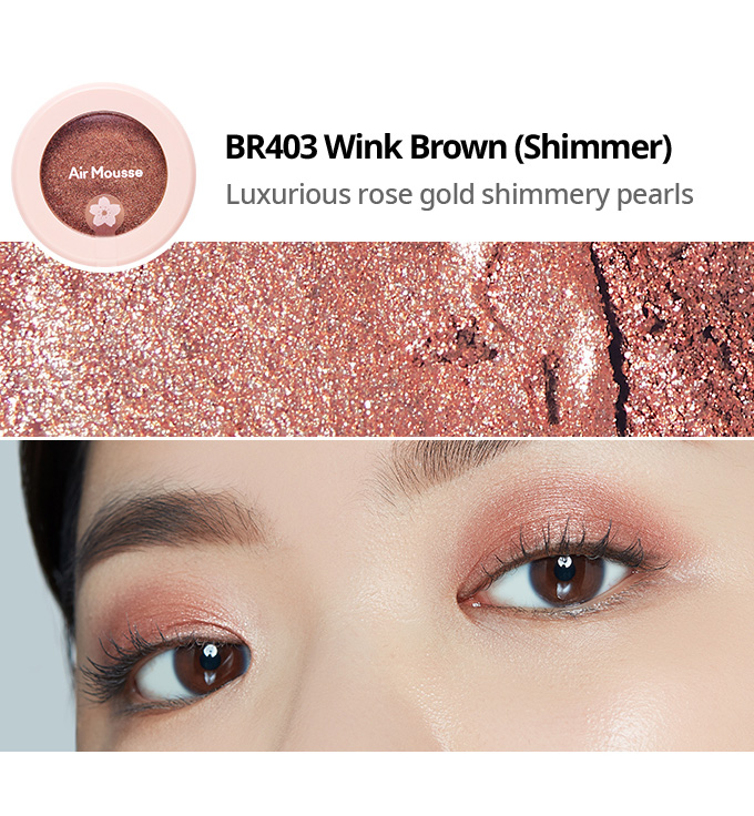 Etude House 2019 Cherry Blossom Blossom Picnic collection air mousse eyes eyeshadow BR403