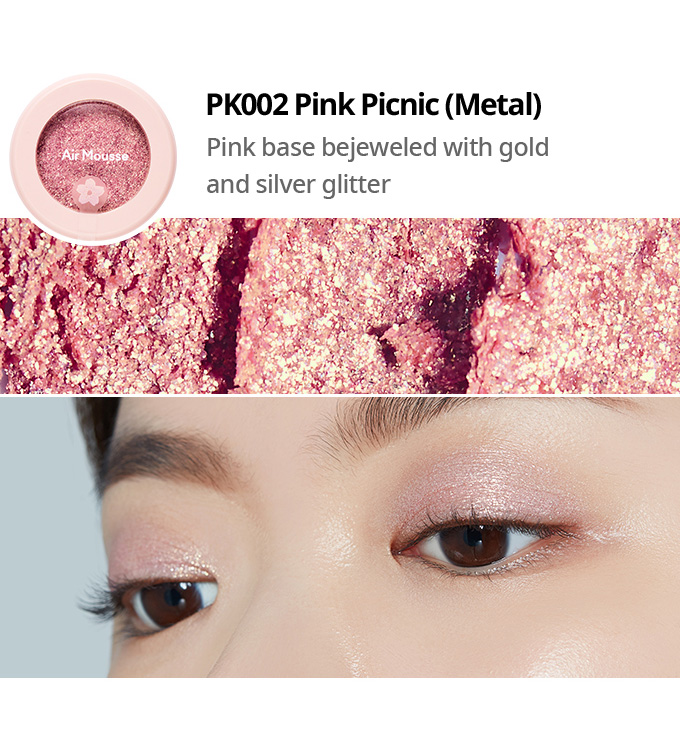 Etude House 2019 Cherry Blossom Blossom Picnic collection air mousse eyes eyeshadow PK002