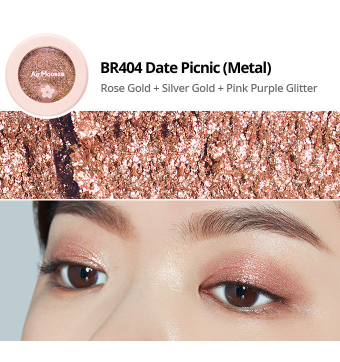 Etude House 2019 Cherry Blossom Blossom Picnic collection air mousse eyes eyeshadow BR404