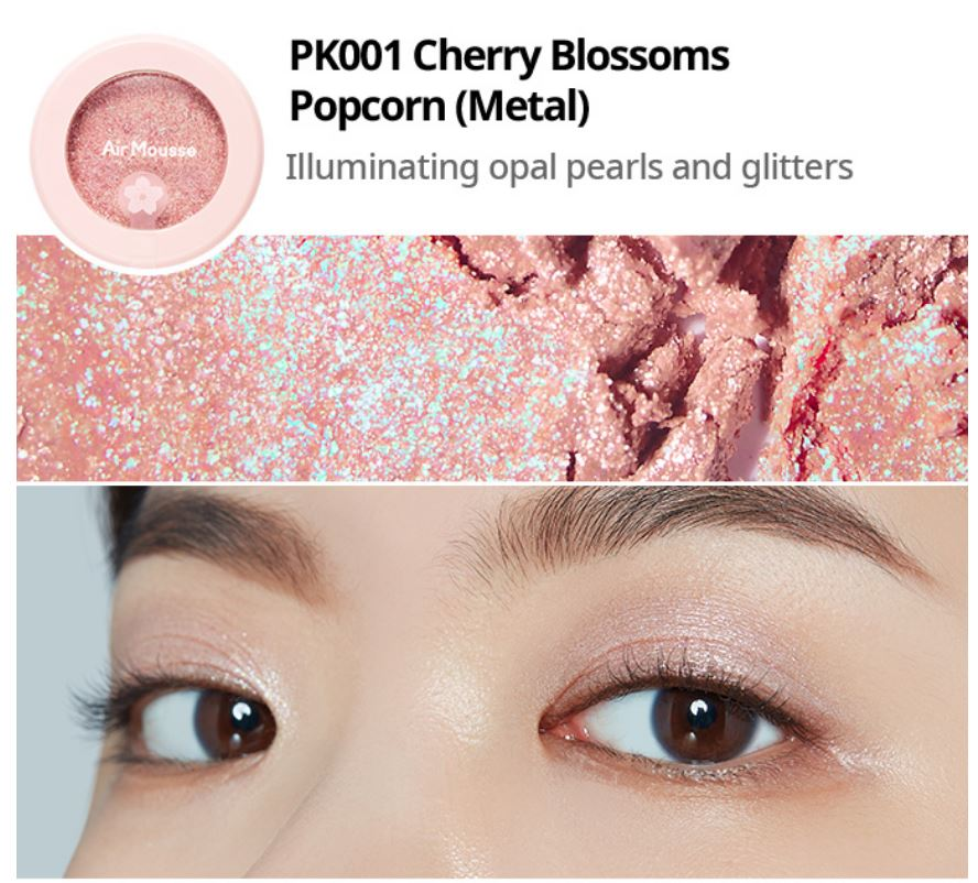 Etude House 2019 Cherry Blossom Blossom Picnic collection air mousse eyes eyeshadow PK001