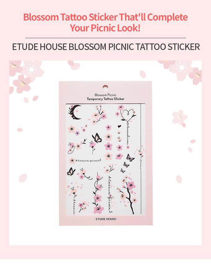 Blossom Picnic Tattoo Sticker